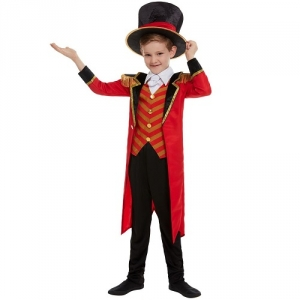 Boys Deluxe Ringmaster Greatest Show Fancy Dress Costume