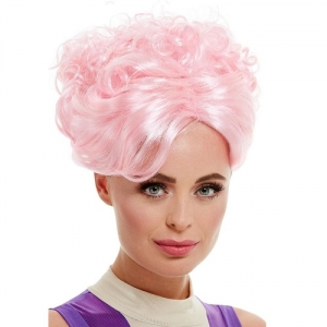 Pink Trapeze Artist The Greatest Show Fancy Dress Wig