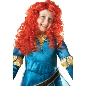 Girls Disney Brave Merida Fancy dress wig