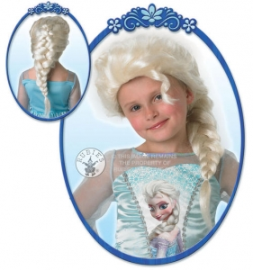 Girls Disney Frozen Snow Queen Elsa Fancy dress wig