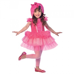 Girls Flamingo Hooded Dress Fancy Dress Costume / outfit