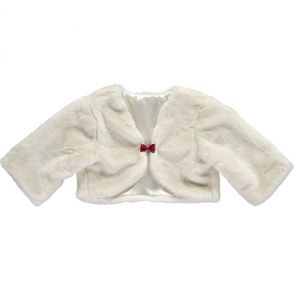 Girls Party Disney Boutique Faux Fur Shrug