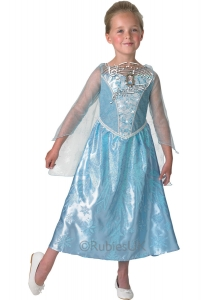 Girl's Disney Frozen Elsa Lights and Music Fancy Dress Costume