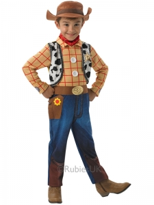 Boys Disney Toy Story Fancy Dress Costume Woody deluxe cowboy