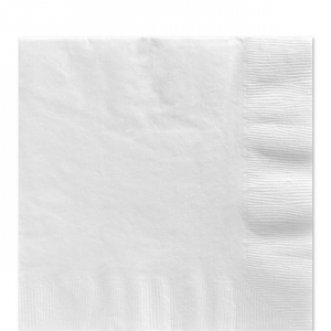 50 Pack Frosty White  Luncheon Napkins 33cm Square 2ply Paper