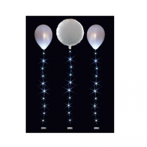 White Balloon Lights String Tail Celebration Party Decoration 1m