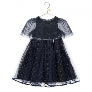 Girls Party Dress Disney Boutique Cinderella Navy Star Dress