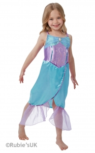 Fancy dress world book day girls mermaid costume
