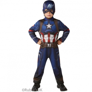 Boys Marvel Avengers Classic Captain America Fancy Dress Costume