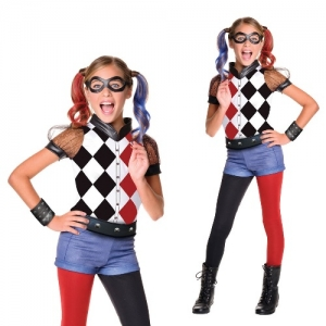 Deluxe Harley Quinn Suicide Squad Childrens Girl Costume