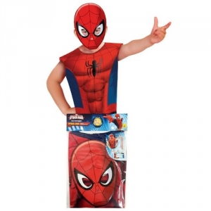 Childrens Superhero Marvel Comics Spiderman Fancy Dress Party Pack Kit