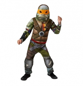 Boys Teenage Mutant Ninja Turtle 2 Movie Fancy Dress Super Hero Costume