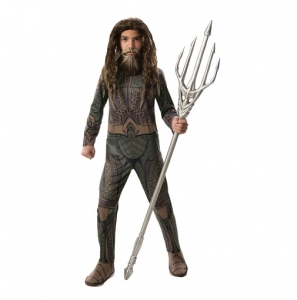 DC Justice League Aquaman Boys Childrens Fancy Dress Costume