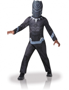 Boys Black Panther Deluxe Marvel Avengers Fancy Dress Costume