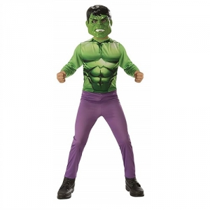 Boys Marvel Avengers Muscle Hulk Superhero Fancy Dress Costume