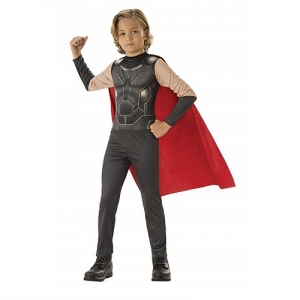 Boys Marvel Avengers Muscle Thor Superhero Fancy Dress Costume