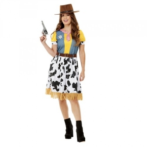Ladies Sexy Wild West Rodeo Cow Girl Fancy Dress Costume