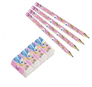 Disney Princess party bag accessorys pencils and rubbers 8 pieces