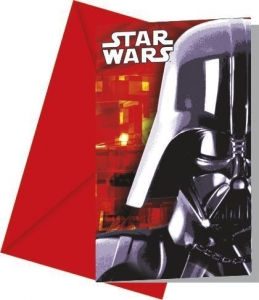 Disney Star Wars party invites pack of 6 Invitations