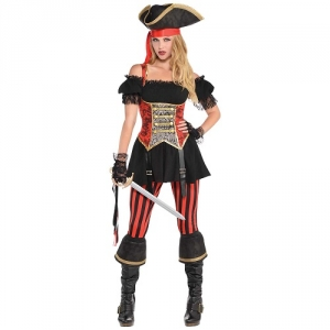 Ladies Lassie Pirate Fancy Dress Costume / Outfit