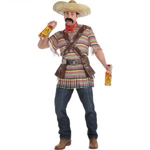 Mens Tequila Bandito Mexican Fancy Dress Costume