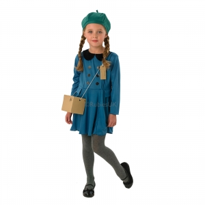 Girls world book day Evacuee Fancy Dress Costume