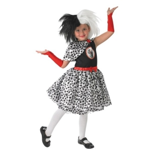 Girl's Cruella De Ville Fancy Dress Costume
