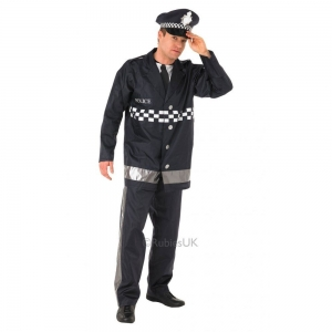 Mens Policeman Fancy Dress costume