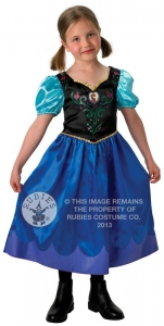 Girl's Disney Frozen Anna Classic Fancy Dress Costume