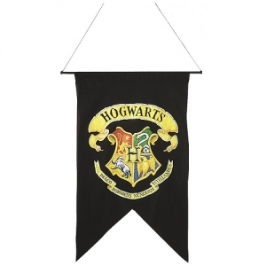 Official Harry Potter Hogwarts Wall Banner Flag Fancy Dress Accessory Decoration