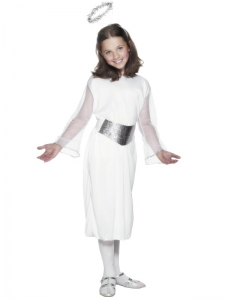 Girls Budget Christmas Angel Costume