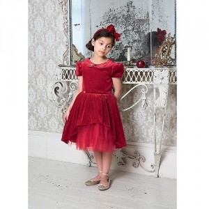 Girls Party Dress Disney Boutique Snow White Red Velvet And Tulle Dress
