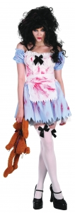 Halloween Zombie Alice Fancy Dress Costume