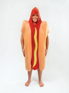 Mens / Ladies Novelty Hot Dog Fancy Dress Costume