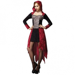 Ladies Halloween demon maiden Fancy Dress Outfit 10-14