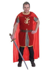 Mens Fancy Dress Lion heart Costume