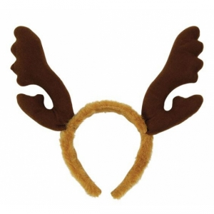 Brown Furry Reindeer Antlers Christmas Accessory