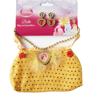 Disney Princess Belle Bag And Jewellery Set