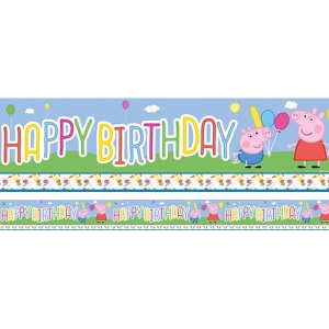 Peppa pig party banner decoration 2.3m