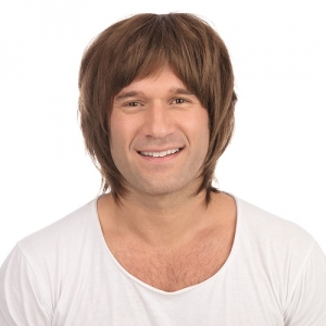 Boy band wig brown short style