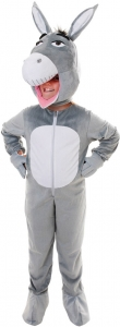 Kids Big Head Donkey Fancy Dress Costume