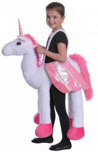 One size childrens riding unicorn costume