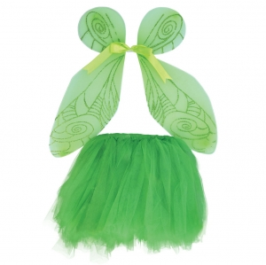 Girls green fairy tutu Fancy Dress set