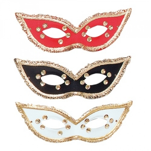 Deluxe Black and Gold masquerade Face Mask