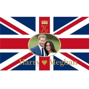 Royal Wedding Flag Union Jack Great Britain Waving Flag Accessory/ Decoration