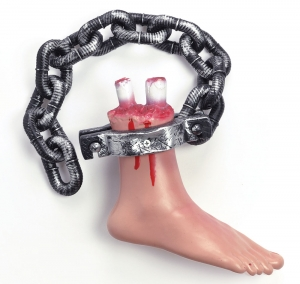 Halloween Bloody Cut off Foot on chain