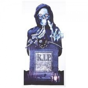 R.i.P Skeleton grave Door / wall banner