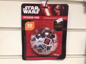 7 Starwars sticker pod party bag filler