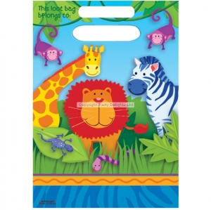 Jungle Animal party plastic loot bags