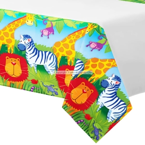 Jungle Animal paper party table cover
